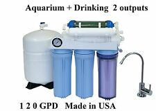 Aquarium Drinking 120GPD REVERSE OSMOSIS RO+DI WATER FILTER SYSTEM USA Made 125