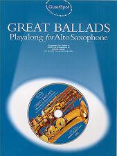 Guest Spot GREAT BALLADS Alto Saxophone Sax Book CD ELVIS BEE GEES ELTON JOHN