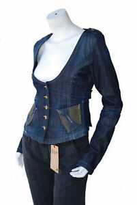 blouson veste jeans femme FORNARINA taille L ( T 40 )