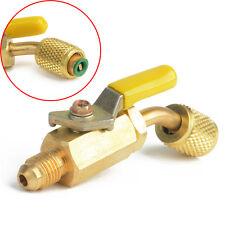 HVAC 1/4''R410a R134a Brass Shut Valve For A/C Charging Air Hoses AC Refrigerant