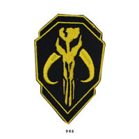 Mandalorian Double Sheild Movie Embroidered Patch Iron on Sew On Badge
