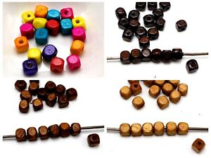 500pcs Cube Wood Beads Wooden Spacer 6X6mm Jewelry Make Colour for Choice