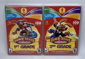 Jump Start Advanced 1st & 2nd Grade PC CD-ROM 4 CD Set Educational Software