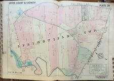 1942 Delaware Co Pa Springfield Township Gibbons Home Sabold School Atlas Map