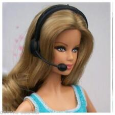 5x set bambine bambola BARBIE abito abbigliamento accessori MICROFONO CUFFIE new