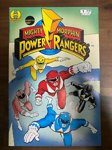 Mighty Morphin Power Rangers 1-Hamilton Comics- VF+ - WITH White Ranger Card