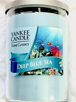 NEW Yankee Candle DEEP BLUE SEA 20 oz. Tumbler Jar Candle Blue
