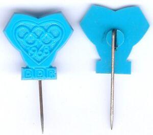1x Abz. zur Förderung des olympischen Gedankens in der DDR 1968 (Plastik -blau)