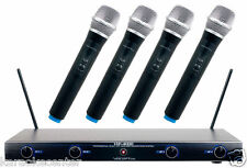 Vocopro Professional 4 Channel Quad VHF Wireless Microphone System VHF4000