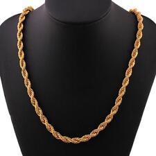 """Reino Unido * 6mm Solid 24K Amarillo Oro Lleno Soga Cadena Collar De Hombre Mujer Joyería 20"""""""