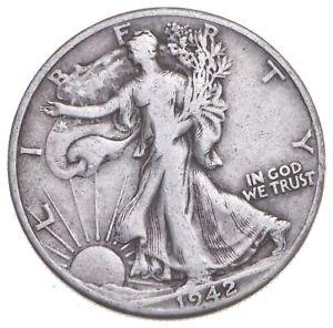 1942-D Walking Liberty 90% Silver US Half Dollar *994