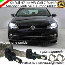 KIT H7 LED CANBUS ANABBAGLIANTI VW GOLF 7 VII FACELIFT XENON 6000K 6400 LUMEN