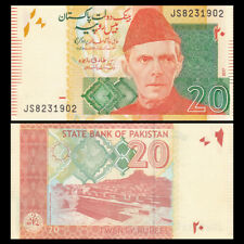 Pakistan 20 Rupees, 2017, P- 55 NEW, UNC, Asian Banknotes