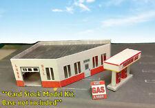 Z Scale Building - Gas Station - Service Station  Cardstock kit