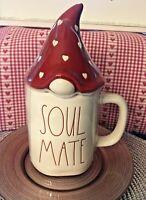 Rae Dunn LL Magenta SOUL MATE Valentine's Day Coffee Mug 2021 Heart Gnome Topper