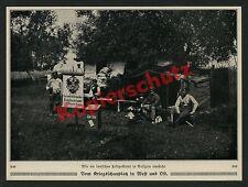 Kaiserliches dt. Feldpostamt Wappen Krone Galizien Zelt Landser Reichspost 1915
