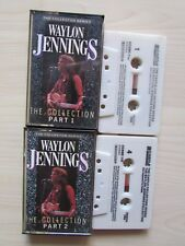 WAYLON JENNINGS THE COLLECTION PART 1 & 2 CASSETTE,  RARE TAPES, TESTED.