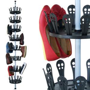 Schuhregal Schuhkarussell Schuhschrank Teleskopregal Schuhständer 96 Schuhe XXL