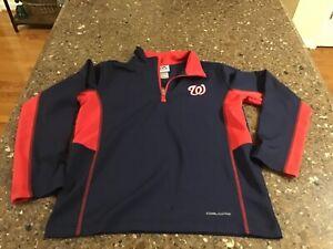 Washington Nationals Pullover Jacket Youth Medium (10-12) Navy Blue
