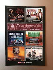 Brad Paisley Luke Bryan Chris Stapeleton Lady Antebellum Kid Rock Handbills