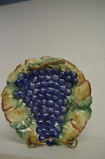 "Fitz-Floyd Grape Design Decorative Majolica Glazed Porcelain Plate 3D Nice 10"""