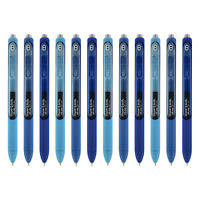 Paper Mate InkJoy Gel Retractable Pens, 0.5mm, Fine, Assorted Blue Ink, 12-Count
