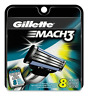 Gillette Mach3 Refill  Razor Blades for Mach 3, 8 Cartridges, Packaging May Vary