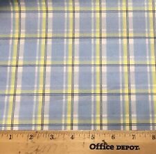 """60"""" Blue/Yellow Plaid !00% Cotton Print  By the Yard"""