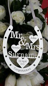 BRIDE AND GROOM WEDDING PRESENT PERSONALIED KEEPSAKE HAND MADE WEDDING GIFT