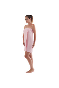 Women's WAFFLE Body WRAP Turkish Cotton with Pocket for Bath Spa Gym Sauna
