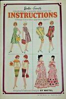 VINTAGE 1965 BARBIE~FRANCIE COLOR MAGIC FASHION DESIGNER SET INSTRUCTION BOOK
