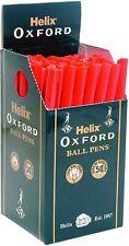Helix Oxford Bâton Stylo à Bille - 1.0mm - Rouge Encre - Paquet De 50