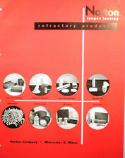 1950 NORTON Refractory Refractories Catalog Asbestos History Furnace Kiln Cement