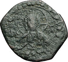 JESUS CHRIST w VIRGIN Class K Anonymous 1st CRUSADE Byzantine Follis Coin i58897