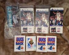 "NBA ""Charlotte Hornets"" Pins and Collection Cards of Larry Johnson & Glen Rice"