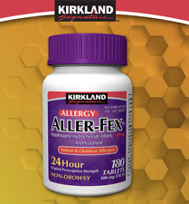 Kirkland Signature Aller-Fex Fexofenadine HCL 180mg 180 Tablets Antihistamine