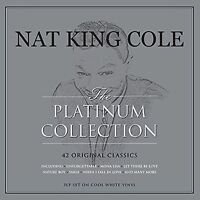 NAT KING COLE THE PLATINUM COLLECTION - 3 LP ON COOL WHITE VINYL - 42 CLASSICS