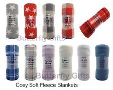 Luxury Warm Soft Fleece Throw Sofa Bed Blanket Tartan Stars Check Pattern New