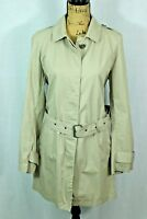 BURBERRY BRIT Women's Knee Length Trench Coat US 12 UK 14  Belted Cotton Jacket