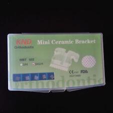 10 kits Dental orthodontic ceramic bracket mesh base mini MBT slot 022 345 hooks