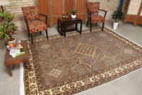 """6'3""""x 8'8"""" Vintage Oriental Hand Knotted Wool Traditional Geometric Area Rug"""