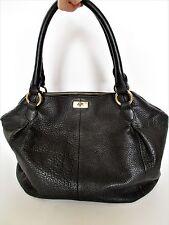 J.Crew 'Brompton' Purse Satchel Bag Hobo black pebble grain leather