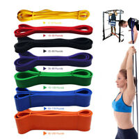 Resistance Exercise Bands Tube Home Gym Fitness Premium Natural Latex Heavy Duty