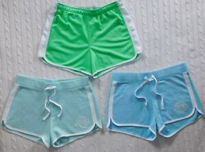 JUSTICE ― Girls 16 ― Lot of 3 Blue/Green Lounge/Active Shorts ― #BM74  *3 PAIRS*