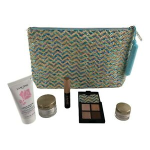 Lancome Gift Set Bag Travel Size Mascara Eye Shadow Eye Cream Face Cleanser