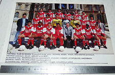 CLIPPING POSTER FOOTBALL 1988-1989 FC ROUEN ROBERT-DIOCHON DIABLES ROUGES