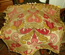 """Antique """"Baroque"""" Needlepoint Chair Cover"""