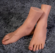 New Flocking Technology Platinum Silicone Male Vein Feet Display Model Size 44