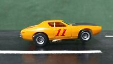 Yellow AFX #11 Dodge Charger 1:64 Scale Slot Car w/Magnatraction Chassis