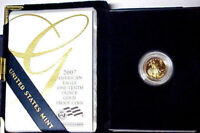 Proof 2007-W $5 American Gold Eagle 1/10 oz Gold OGP